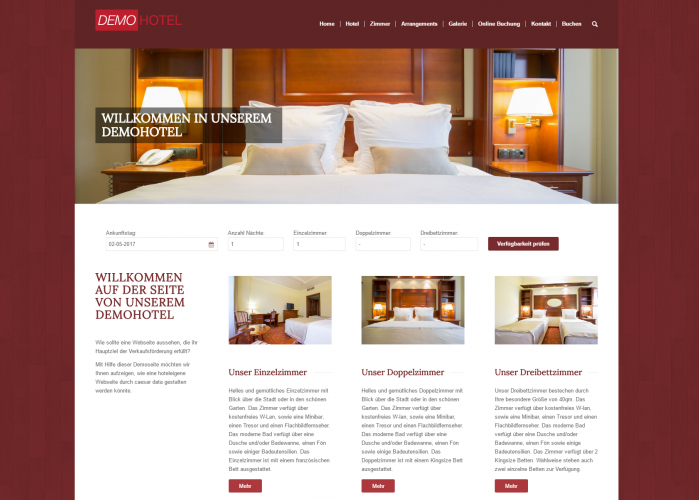 Webdesign für Hotels - Modern, strukturiert und nach Ihren Wünschen erstellt
