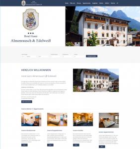Web Design für Hotels - Hotel Garni Almenrausch & Edelweiß in Garmisch Partenkirchen