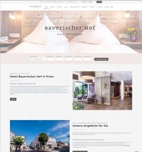 Web Design für Hotels - Hotel Bayerischer Hof in Prien