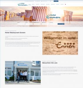 Web Design für Hotels - Hotel Ennen Norderney caesar data