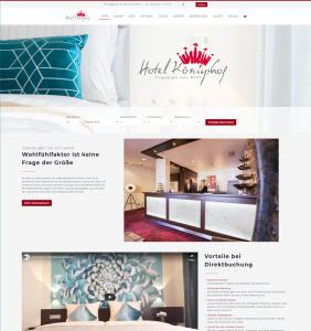 Web Design für Hotels - Hotel Königshof in Dortmund