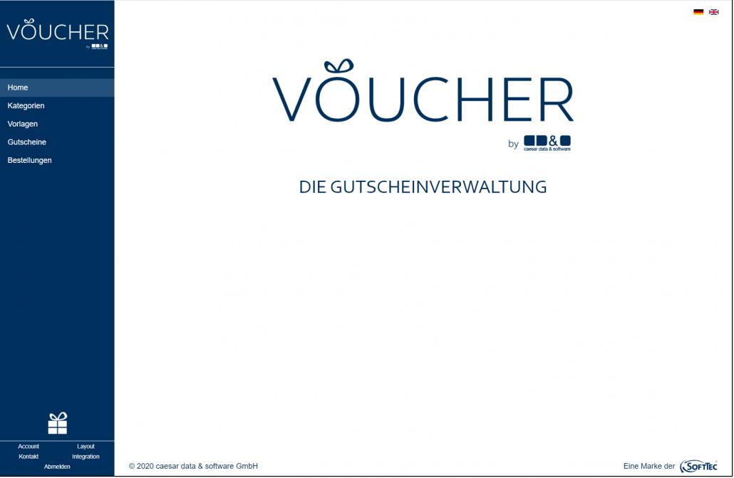 Screenshot Backend VOUCHER Gutscheinverwaltung Hotel Gutschein Tool